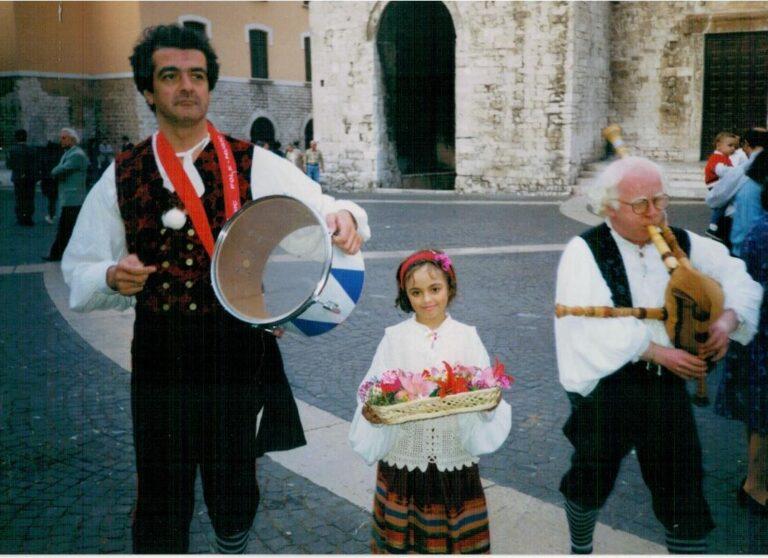 Bari. Da sinistra: Nino Blasi, Pasqualina Damiani, Carmine Damiani