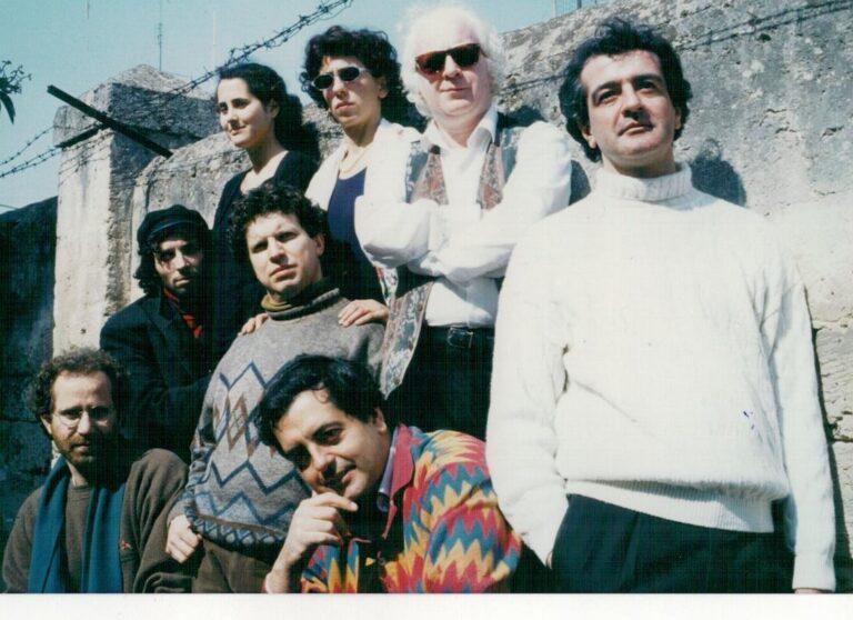 Da sinistra: Gianni Errico, Gigi Celestimo. Monica Giametta, Rosanna Santamaria, Francesco Attolini, Sandro Blasi, Carmine Damiani, Nino Blasi