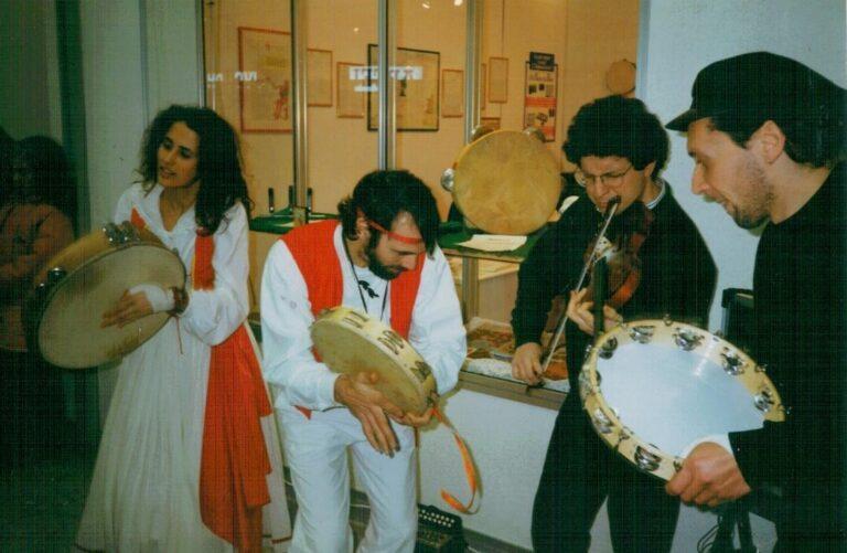 Bari. Expolevante 1993. Da sinistra: Monica Giametta, Piergiorgio Di Lecce, Francesco Attolini, Gigi Celestino