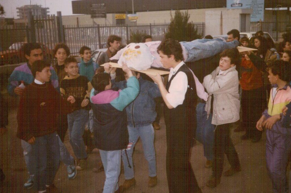 Il funerale di Rocco. Bari. Carnevale 1991