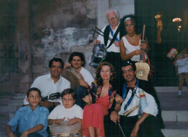 Foggia. 1994. Da sinistra: Alessandro Blasi, Umberto De Palma, Rosella Fiore, Carmine Damiani, Silana Carrieri, Nino Blasi