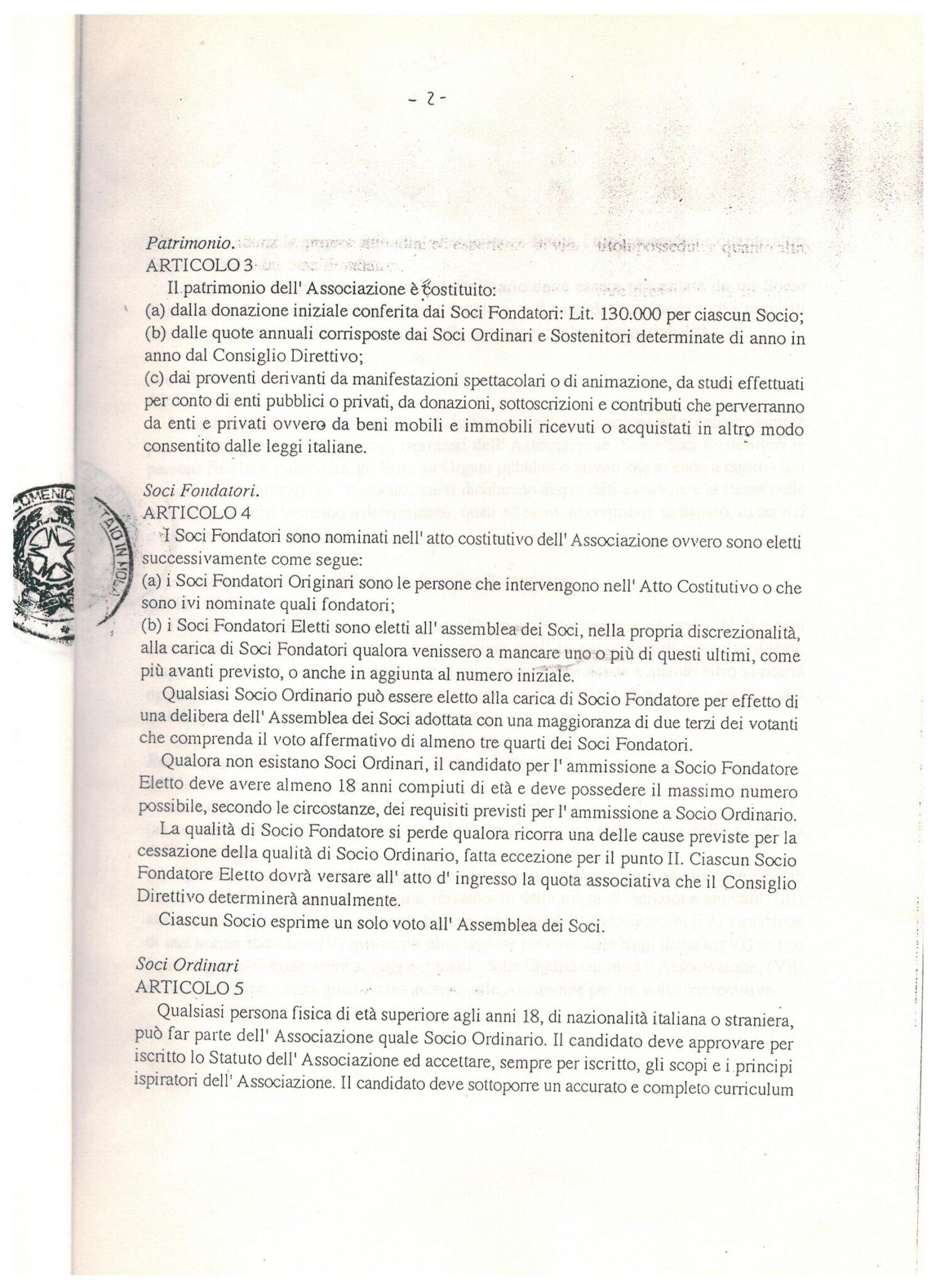 STATUTO 5