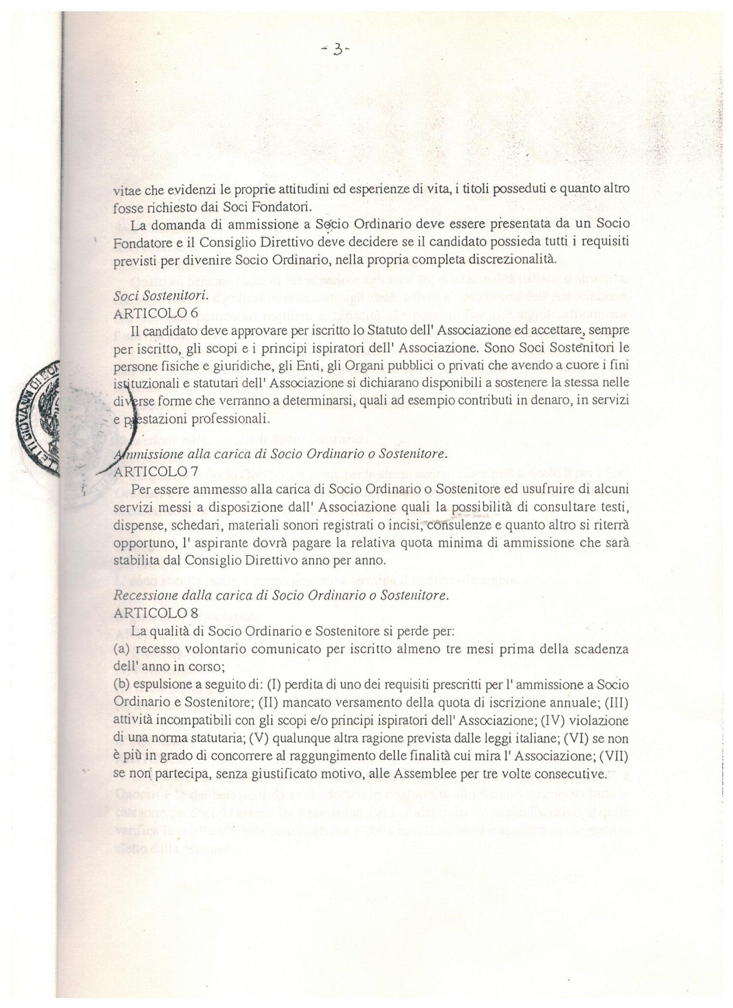 STATUTO 7