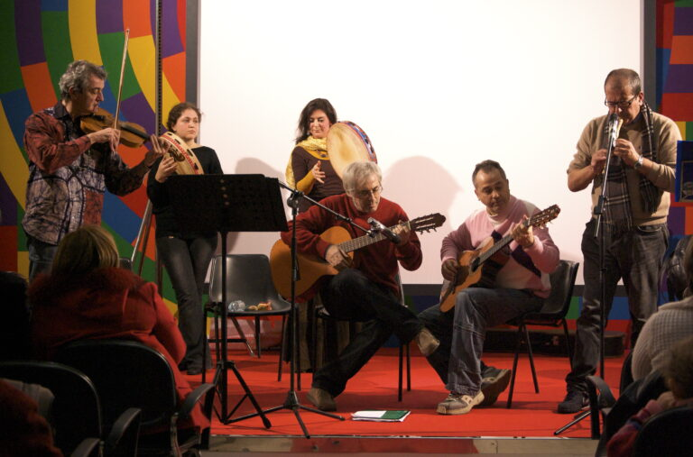 Bari. Sala Murat. 7 dicembre 2009. Da sinistra: Nino Blasi, Elisabetta Puliero, Resi Gjeci, Michele Dragonieri, Lorenzo Dragonieri, Sandro Blasi.