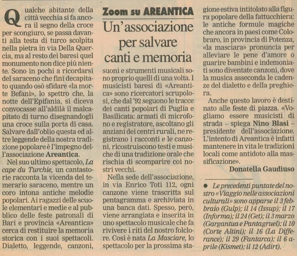La Gazzetta del Mezzogiorno 21-05-1998