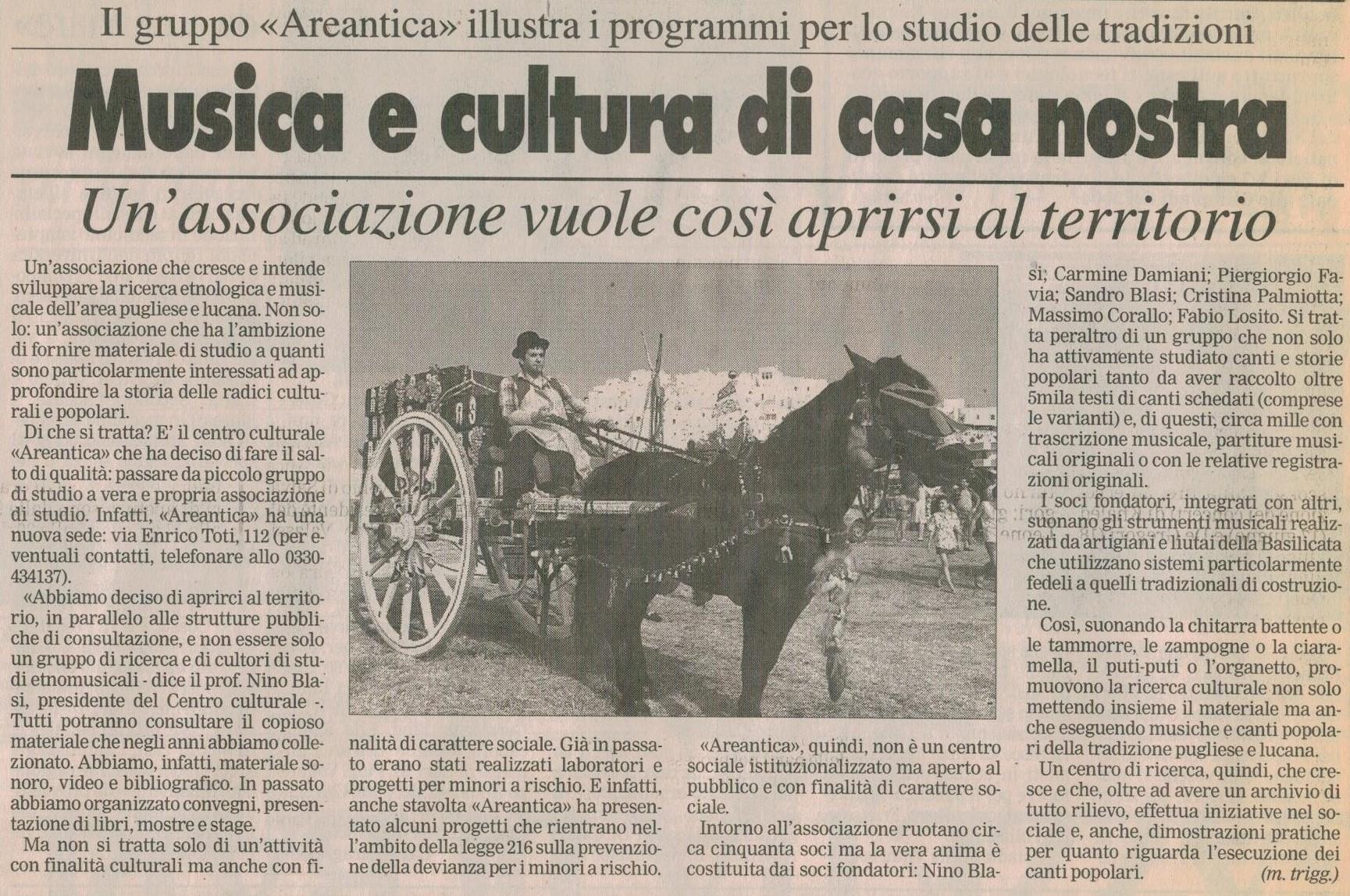 La Gazzetta del Mezzogiorno 27-05-1997