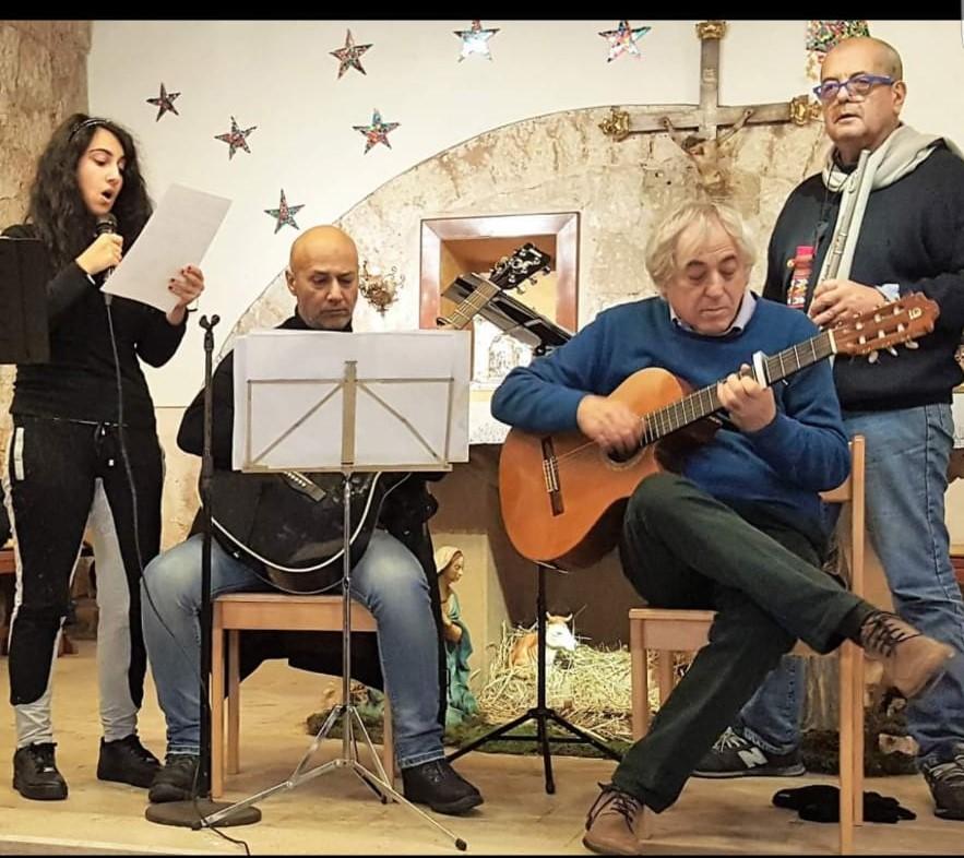 Bari Chiesa san Marco 16 dicembre 2018. Da sinistra: Antonella Fonderico, Maurizio Fonderico, Michele Dragonieri, Alessandro Blasi