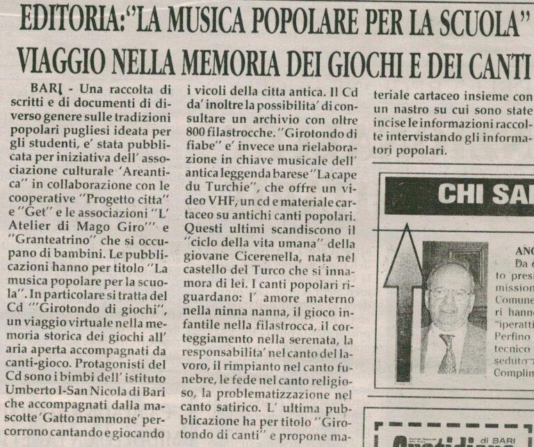 Quotidiano di Bari 30-11-2001